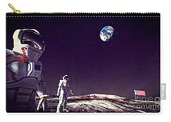 Carry-all Pouch featuring the digital art Moon Walk by Methune Hively