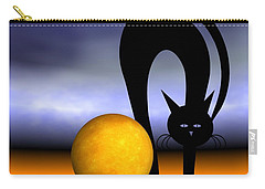 Mooncat's Play With The Fullmoon Carry-all Pouch