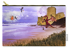 Carry-all Pouch featuring the photograph Moonlight Dragon Attack by Diane Schuster