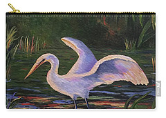 Moonlight Egret Carry-all Pouch