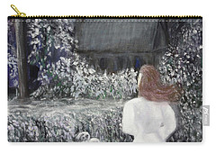 Carry-all Pouch featuring the painting Moonlight Garden by Lyric Lucas