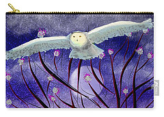 Carry-all Pouch featuring the digital art Moonlight Hunt by Iowan Stone-Flowers