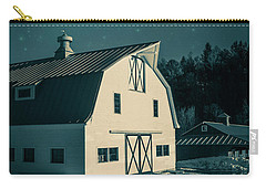 Carry-all Pouch featuring the photograph Moonlight In Vermont by Edward Fielding