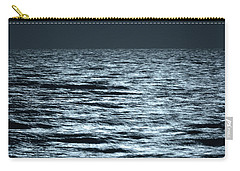 Moonlight On The Ocean Carry-all Pouch by Nancy Landry