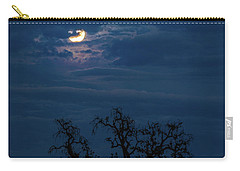Moonlight Through A Blue Evening Sky Carry-all Pouch