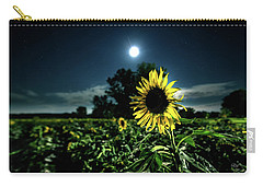 Carry-all Pouch featuring the photograph Moonlighting Sunflower by Everet Regal