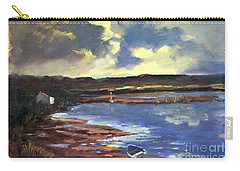 Moonlit Beach Carry-all Pouch by Genevieve Brown