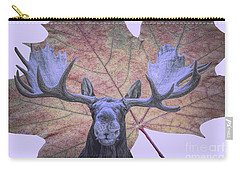 Carry-all Pouch featuring the photograph Moonlit Moose by Ray Shiu