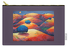 Carry-all Pouch featuring the painting Moonlit Rollers by Gary Coleman