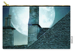Moonlit Rooftops And Window Light  Carry-all Pouch by Lee Avison