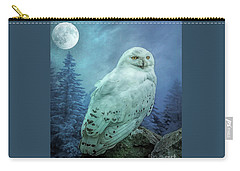 Moonlit Snowy Owl Carry-all Pouch