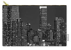 Moonrise Along The Empire State Building Bw  Carry-all Pouch