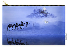 Moonrise At The Magical Oasis Carry-all Pouch