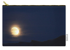 Carry-all Pouch featuring the photograph Moonrise On Lake Mead 2 by Marie Leslie