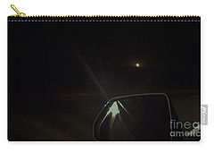 Moonrise On The Back Road Carry-all Pouch by Angela J Wright