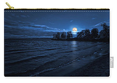 Moonrise On The Beach Carry-all Pouch
