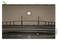 Moonrise Over Skyway Bridge Carry-all Pouch