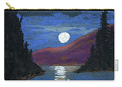 Moonrise Over Strait Carry-all Pouch