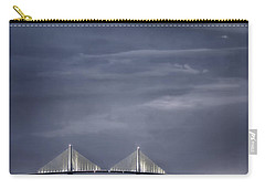 Moonrise Over Sunshine Skyway Bridge Carry-all Pouch