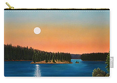 Moonrise Over The Lake Carry-all Pouch