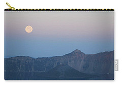 Moonset At Crater Lake Carry-all Pouch