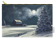 Carry-all Pouch featuring the digital art Moonshine On The Snow by Lois Bryan