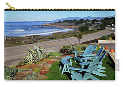Carry-all Pouch featuring the photograph Moonstone Beach Seat With A View by Barbara Snyder
