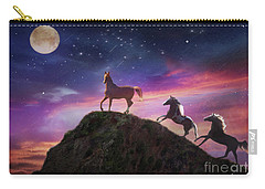 Carry-all Pouch featuring the photograph Moonstruck by Melinda Hughes-Berland