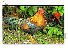 Carry-all Pouch featuring the photograph Moorea Chicken by Bill Barber