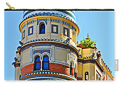 Moorish Tower With Hdr Processing Carry-all Pouch by Mary Machare
