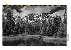 Carry-all Pouch featuring the photograph Moose At Schwabacher's Landing by Gary Lengyel