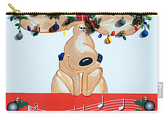 Moose Christmas Greeting Carry-all Pouch