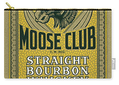 Carry-all Pouch featuring the photograph Moose Club Bourbon Label by Tom Mc Nemar