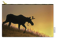 Carry-all Pouch featuring the photograph Moose Evening Wander by Jennie Marie Schell