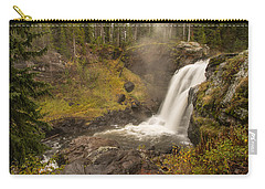 Carry-all Pouch featuring the photograph Moose Falls by Gary Lengyel
