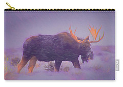 Moose In A Blizzard Carry-all Pouch