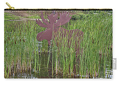 Carry-all Pouch featuring the photograph Moose In Bulrushes by Sue Smith