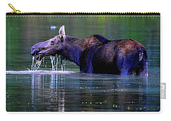 Moose In Swiftcurrent Lake, Glacier National Park Carry-all Pouch