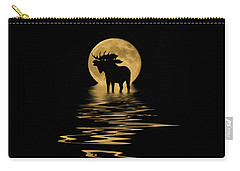 Moose In The Moonlight Carry-all Pouch
