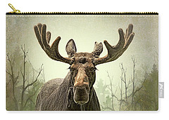 Carry-all Pouch featuring the photograph Moose In The Woodland Forest by Jennie Marie Schell