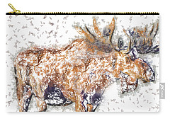 Carry-all Pouch featuring the digital art Moose-sticks by Elaine Ossipov