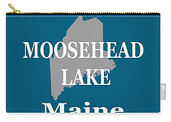 Carry-all Pouch featuring the photograph Moosehead Lake Maine State Pride  by Keith Webber Jr