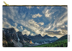 Moraine Lake Sunset - Golden Rays Carry-all Pouch
