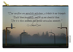 Carry-all Pouch featuring the photograph Moral Milestones by Cyryn Fyrcyd