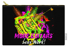 Carry-all Pouch featuring the photograph More Guitars  by Guitar Wacky