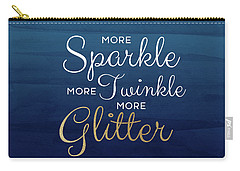 More Sparkle Blue- Art By Linda Woods Carry-all Pouch