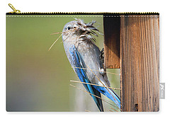 Carry-all Pouch featuring the photograph More Than Mouthful by Mike Dawson