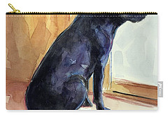 Carry-all Pouch featuring the painting Morgan's View by Molly Poole