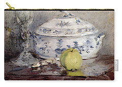 Morisot Berthe Tureen And Apple Carry-all Pouch by Berthe Morisot