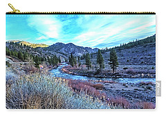 Morning Along The Truckee Carry-all Pouch by Nancy Marie Ricketts